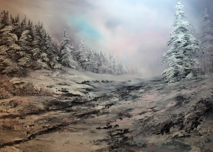 Cannock Chase Greeting Card featuring the painting My Idea Of Heaven by Jean Walker