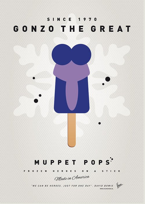 Muppets Greeting Card featuring the digital art My Muppet Ice Pop - Gonzo by Chungkong Art