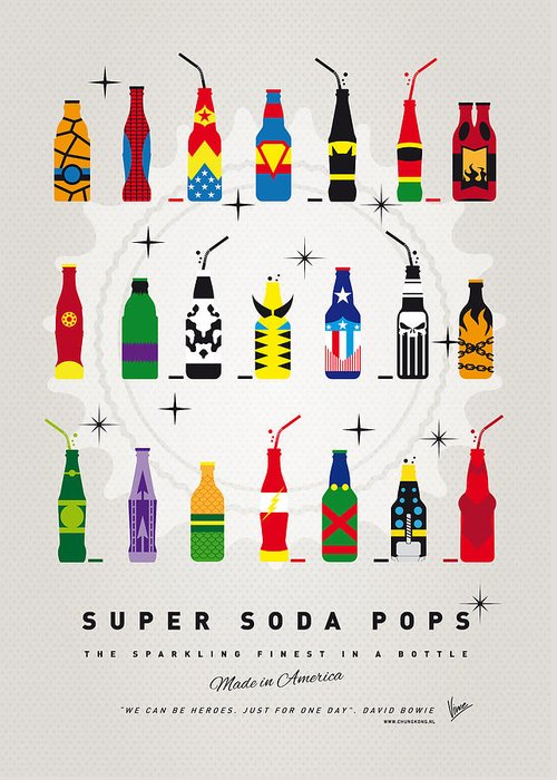 Superheroes Greeting Card featuring the digital art My Super Soda Pops No-00 by Chungkong Art