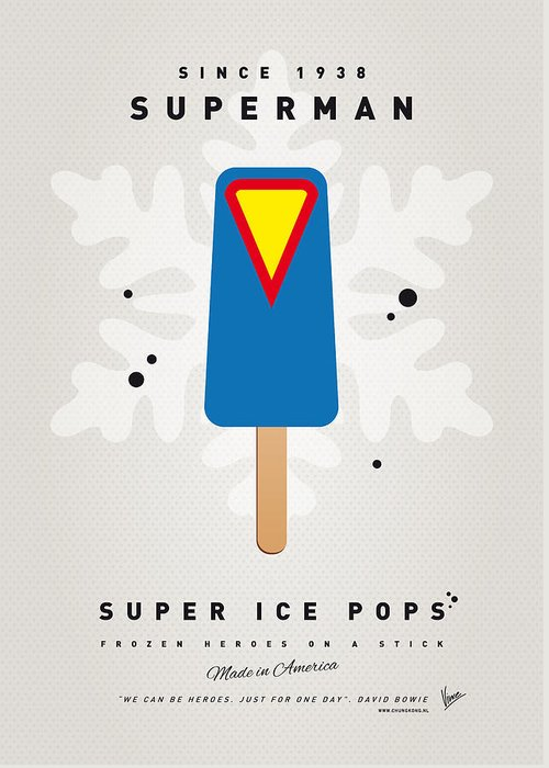 Superheroes Greeting Card featuring the digital art My Superhero Ice Pop - Superman by Chungkong Art
