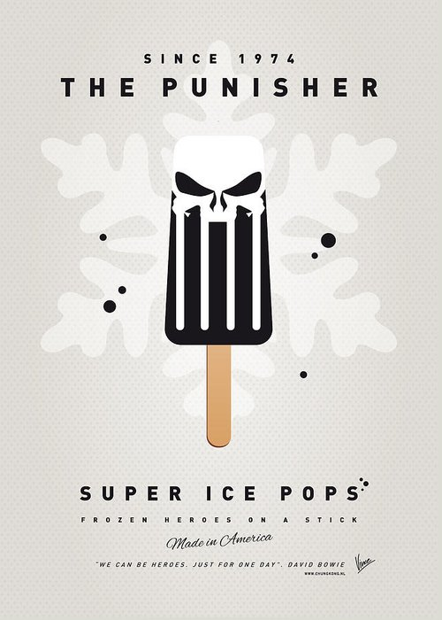 Superheroes Greeting Card featuring the digital art My Superhero Ice Pop - The Punisher by Chungkong Art