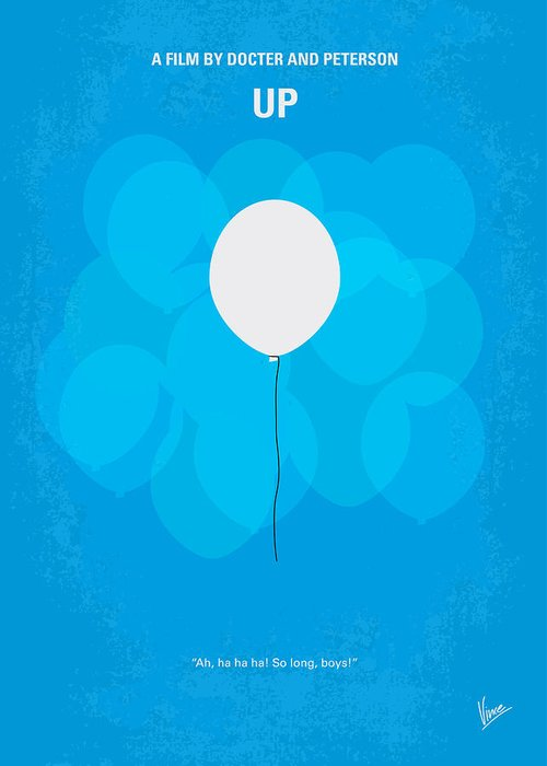 Up Greeting Card featuring the digital art My Up Minimal Movie Poster by Chungkong Art
