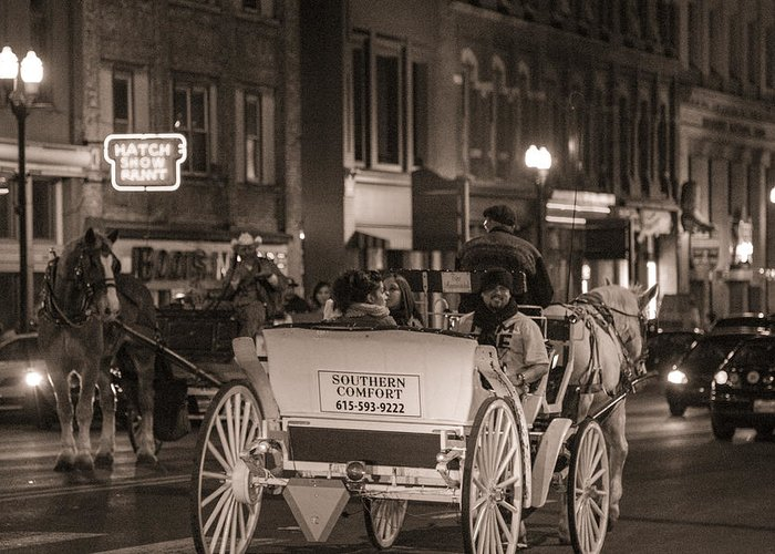 Nashville Greeting Card featuring the photograph Nashville Carriage Ride by John McGraw