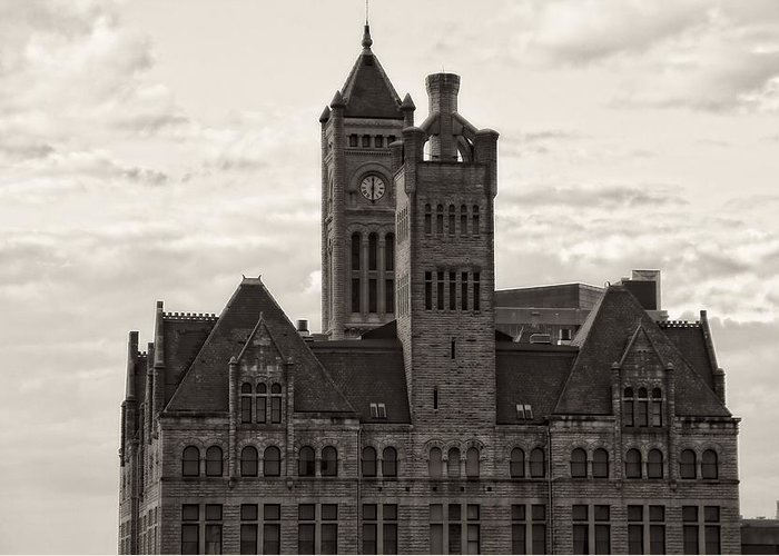Nashville's Union Station Greeting Card featuring the photograph Nashville's Union Station by Dan Sproul
