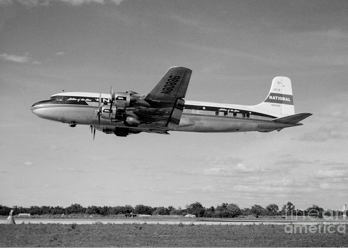 N90898 Greeting Card featuring the photograph National Airlines Nal Douglas Dc-6 by Wernher Krutein
