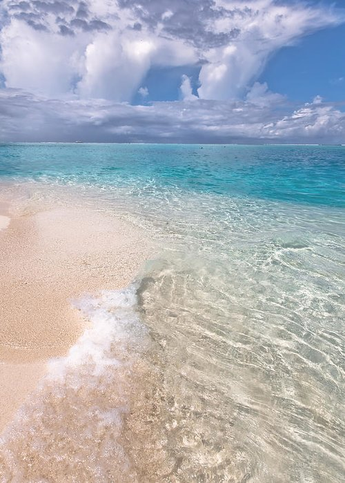 Nature Greeting Card featuring the photograph Natural Wonder. Maldives by Jenny Rainbow
