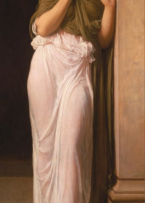 Leighton Greeting Card featuring the painting Nausicaa by Frederic Leighton