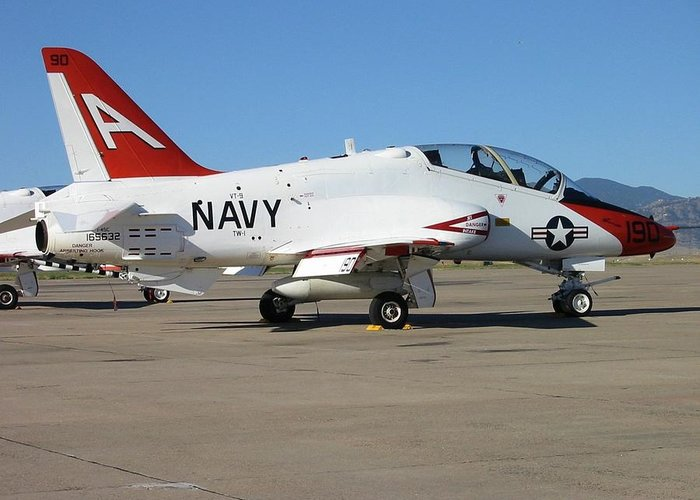 Transportation—plane Greeting Card featuring the photograph Navy T-45 Goshawk by Steven Parker