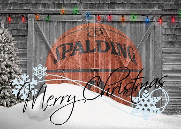 Basketball Greeting Card featuring the photograph Nba Basketball by Joe Hamilton