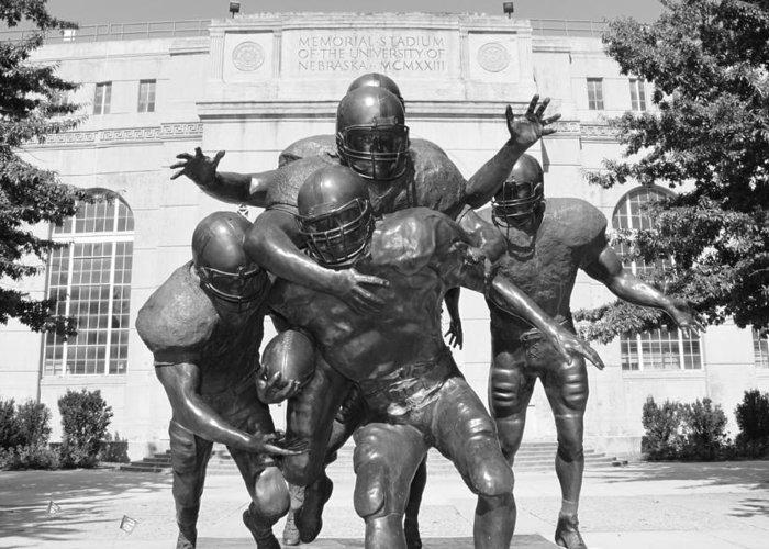 University Of Nebraska Greeting Card featuring the photograph Nebraska Football by John Daly