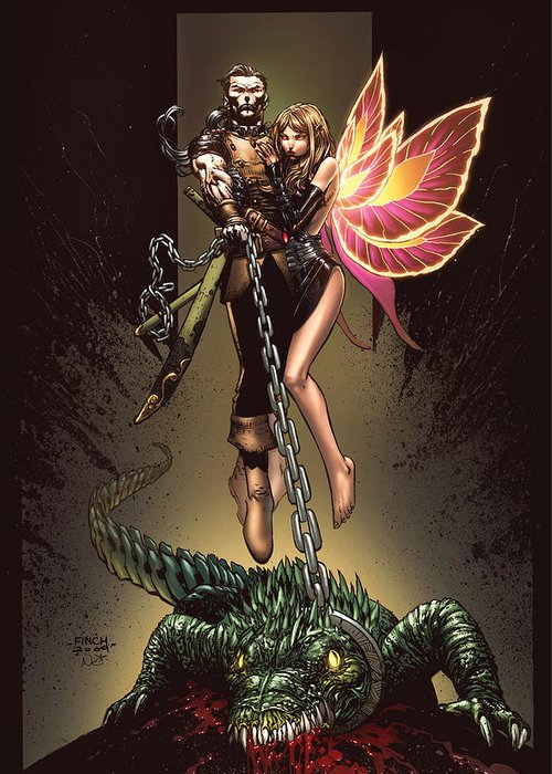 Grimm Fairy Tales Greeting Card featuring the drawing Neverland 01a by Zenescope Entertainment