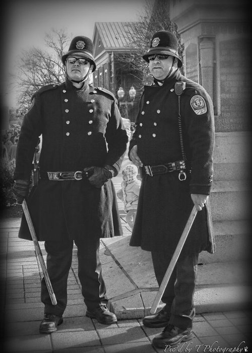 Cops Greeting Card featuring the photograph New Age Coppers by Pic'd by T Photography