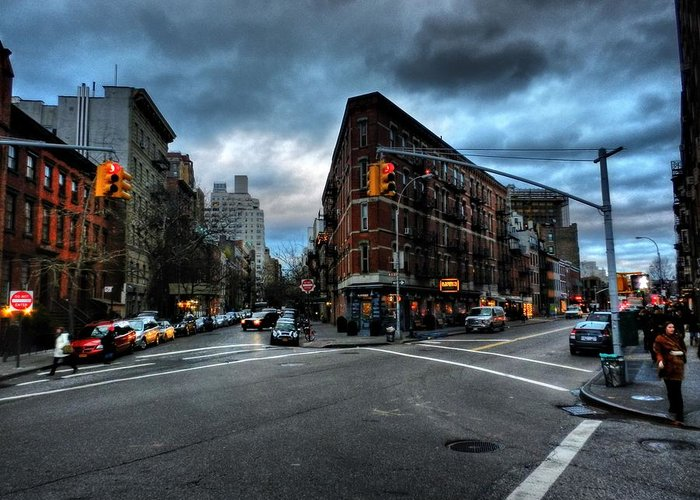 New York City Greeting Card featuring the photograph New York City - Greenwich Village 012 by Lance Vaughn