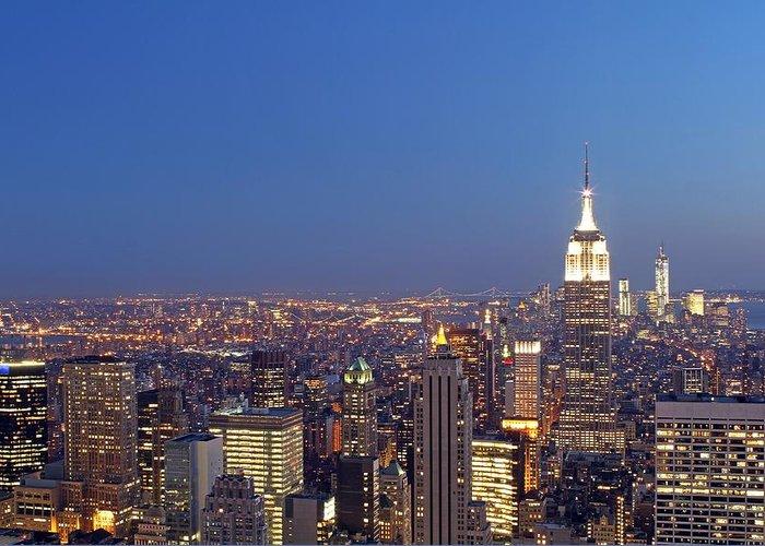 New York City Greeting Card featuring the photograph New York City by Juergen Roth