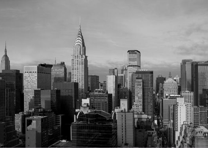 New York Greeting Card featuring the photograph New York City Skyline by Diane Diederich