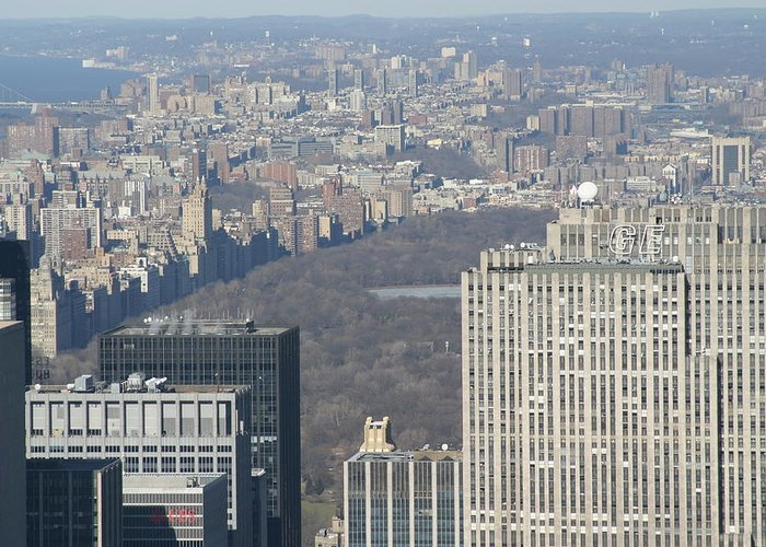 New Greeting Card featuring the photograph New York City - View From Empire State Building - 121211 by DC Photographer