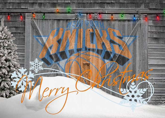 Knicks Greeting Card featuring the photograph New York Knicks by Joe Hamilton