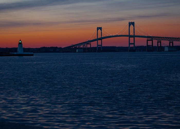 Photographs Greeting Card featuring the photograph Newport At Sunset by Robert Torkomian