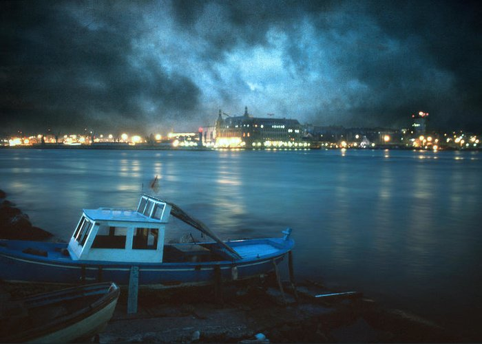 Seascape Greeting Card featuring the photograph Night After Night by Taylan Soyturk