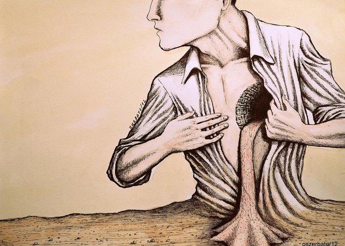 Reason Greeting Card featuring the digital art No Quiero Vivir En La Pobreza De La Racionalidad by Paulo Zerbato