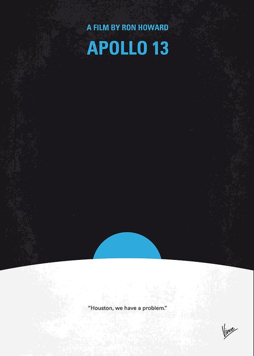 Apollo Greeting Card featuring the digital art No151 My Apollo 13 Minimal Movie Poster by Chungkong Art