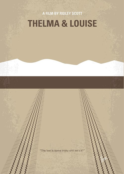 Thelma Greeting Card featuring the digital art No189 My Thelma And Louise Minimal Movie Poster by Chungkong Art