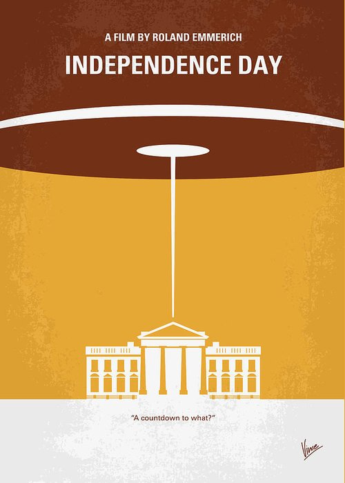 Independence Greeting Card featuring the digital art No249 My Independence Day Minimal Movie Poster by Chungkong Art