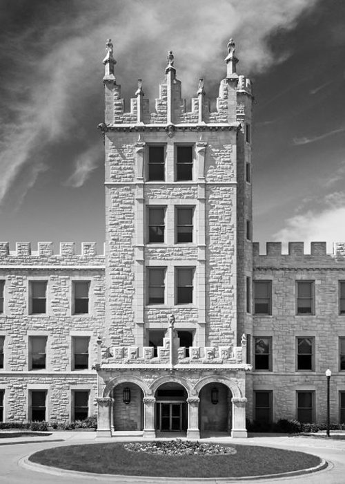 Altgeld Hall Greeting Card featuring the photograph Northern Illinois University Altgeld Hall by University Icons