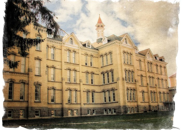 Traverse City Greeting Card featuring the photograph Northern Michigan Asylum by Michelle Calkins