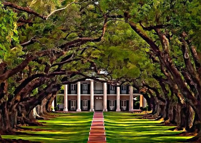 Oak Alley Plantation Greeting Card featuring the photograph Oak Alley II by Steve Harrington