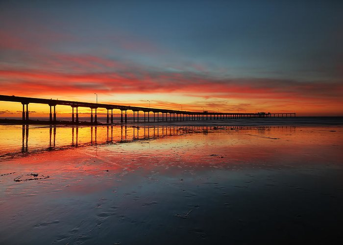 Larry Marshall Greeting Card featuring the photograph Ocean Beach California Pier 3 by Larry Marshall