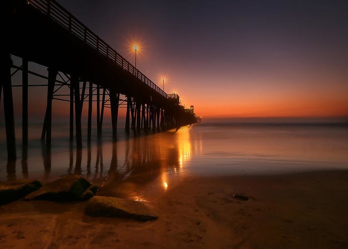 Larry Marshall Greeting Card featuring the photograph Oceanside Sunset 15 by Larry Marshall