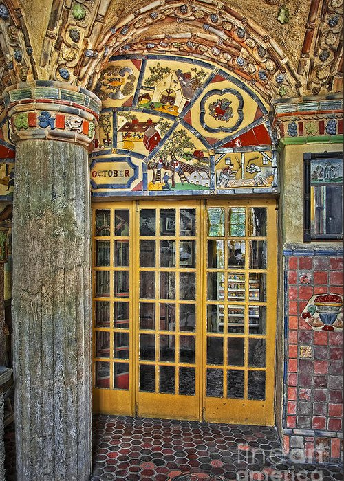 Byzantine Greeting Card featuring the photograph October At Fonthill Castle by Susan Candelario