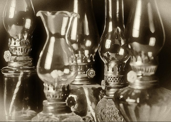 Oil Greeting Card featuring the photograph Oil Lamps by Patrick M Lynch