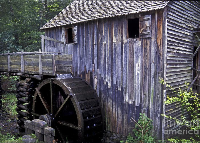 Grist Mill Greeting Card featuring the photograph Old Cades Cove Mill by Paul W Faust - Impressions of Light