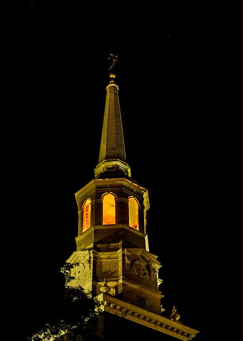 First Friday Greeting Card featuring the photograph Old Christ Church by Louis Dallara