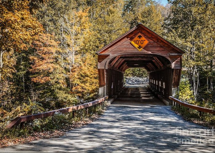 Vermont Greeting Card featuring the photograph Old Covered Bridge Vermont by Edward Fielding