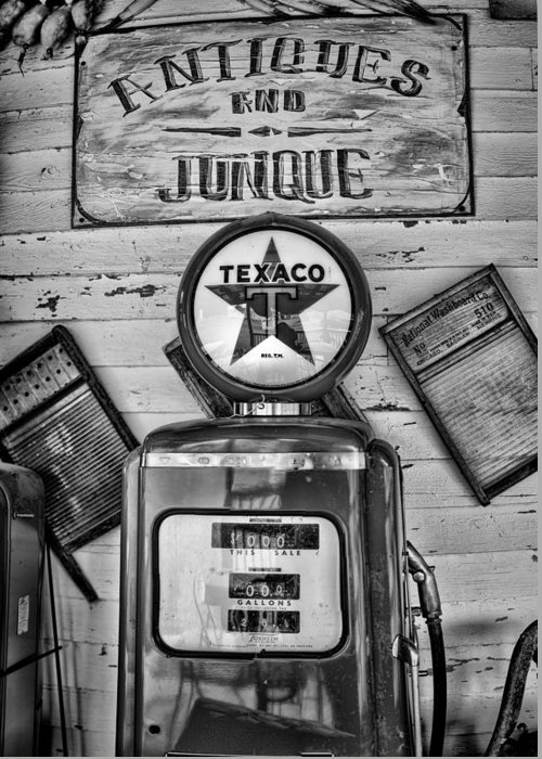 Gas Pump Greeting Card featuring the photograph Old Fashioned by Heather Applegate