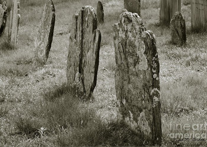 Cemetery Greeting Card featuring the photograph Old Gravestones II by Dave Gordon