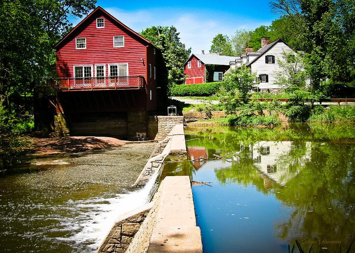 Grist Mill Greeting Card featuring the photograph Old Grist Mill by Colleen Kammerer