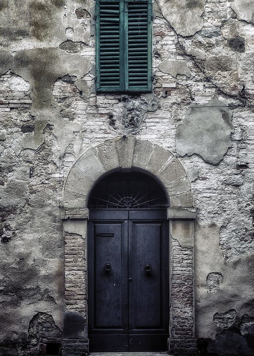 Door Greeting Card featuring the photograph Old Italian House by Joana Kruse