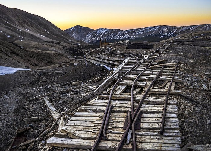 Mine Greeting Card featuring the photograph Old Mining Tracks by Aaron Spong