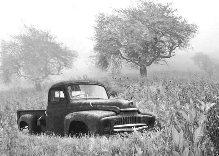 120 Greeting Card featuring the photograph Old Pick Up Truck by Debra and Dave Vanderlaan