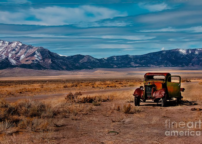 Transportation Greeting Card featuring the photograph Old Pickup by Robert Bales