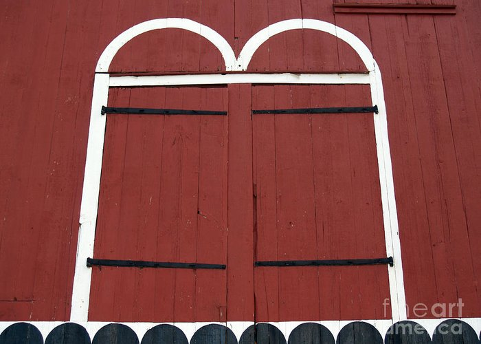 Kutztown Greeting Card featuring the photograph Old Red Kutztown Barn Doors by Anna Lisa Yoder