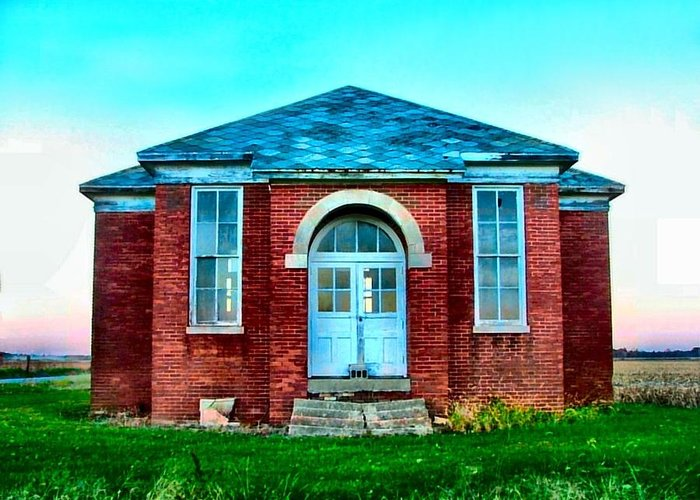 Schools Greeting Card featuring the photograph Old Schoolhouse by Julie Dant
