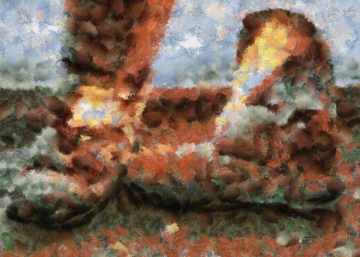 Boots Greeting Card featuring the painting Old Snow Boots by Ayse Deniz