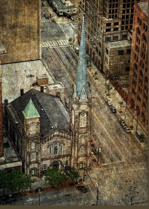 Old Stone Church Greeting Card featuring the photograph Old Stone Church by Dale Kincaid
