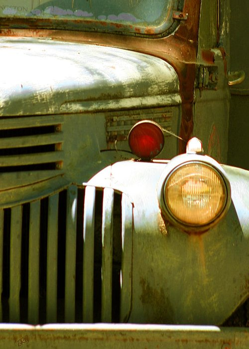 Old Truck Greeting Card featuring the photograph Old Truck Abstract by Ben and Raisa Gertsberg