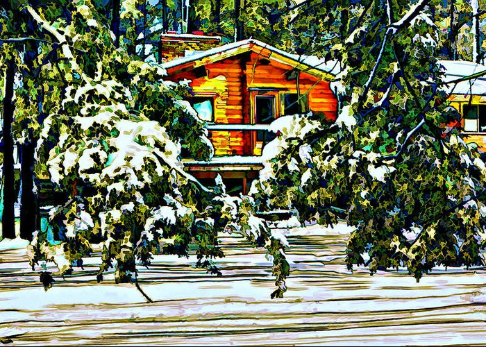Winter Greeting Card featuring the photograph On A Winter Day by Steve Harrington